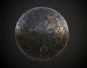 3D model Metal Rusted Painted Seamless PBR Texture