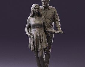 Man holding woman behind 0805 3D Print Ready