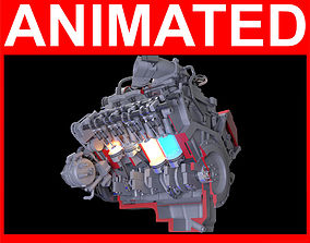 How Engine Ignition Works Cutaway Animation 3D model