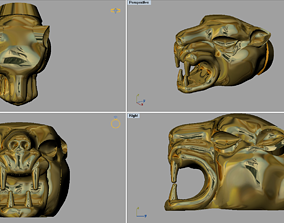 mammal Tiger Head 3dm Files