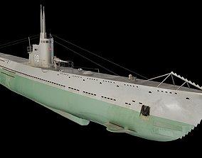 3D model Soviet submarine S-13