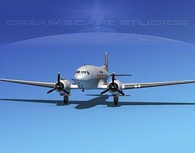 Douglas DC-3 Air America 3D