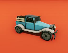 3D asset Pickup Truck with Barrels
