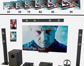 Samsung 85 Q950T 8K Smart QLED TV 2020 Cet 3D model 2