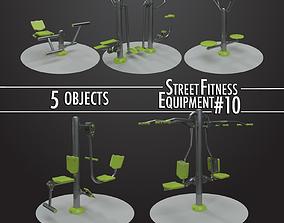 Street Fitness Equipment 5objects 10 3D model
