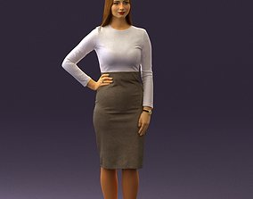 3D character Woman in office style look 0546