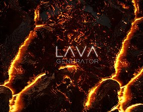 Ultimate Lava Generator Substance 3D