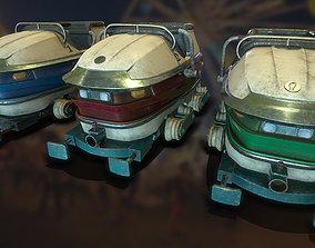 3D asset Carnival Roller Coaster Carts