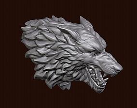 sculptures Wolf head 3D print model