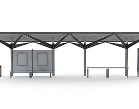 3D model Bus Stop 05