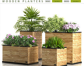 3D planter box wodden