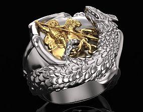 The ring of St George kills a 3D print model