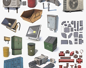 3D model Architecture Props Low Poly