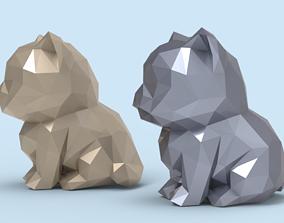 Low Poly Kitten STL 3D print model
