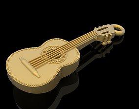 3D printable model Guitar pendant music jewelry