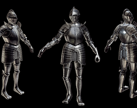 3D asset Renaissance Plate Armour