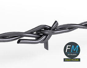 3D Barbed wire part