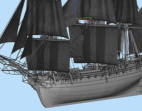 3D model Hermione sailing