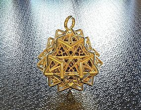 3D printable model BRO WOVEN OCTAHEDRON PENDANT