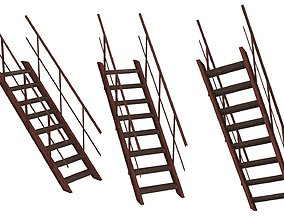 Industrial Platforms Stairs 01 Set Stairs 01 02 3D asset