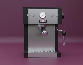 3D model VR / AR ready Coffee Maker
