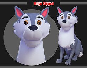 Cartoon Wolf Rigged 3D asset
