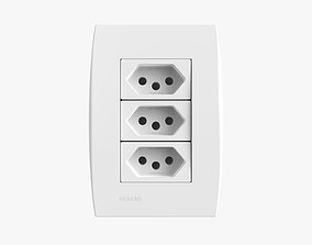 Siemens 3 Power Outlets 3D