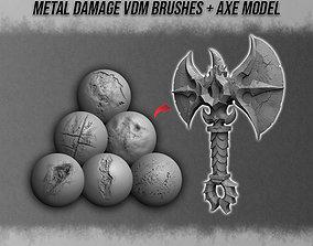 3D Metal Damage VDM Brushes - Axe Model
