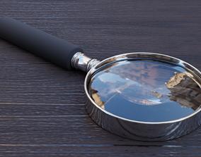 3D asset realtime PBR Magnifying Glass