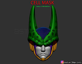 3D printable model CELL Mask -Dragon Ball Z Cosplay or 1