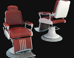 Barber Chair 3D model realtime