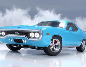 1971 Plymouth GTX 3D model