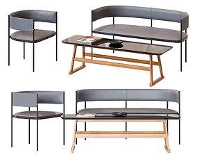 3D model Chair and Table Era Living Divani