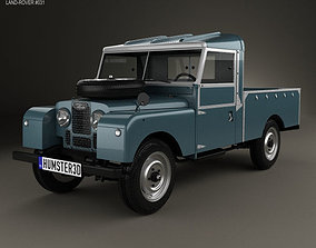 3D model Land Rover Series I 107 Pickup 1958