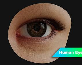 3D model PBR Human Eye with Eyelids