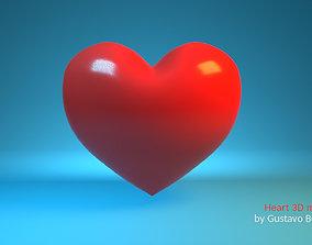 3D model Simple symbolic heart