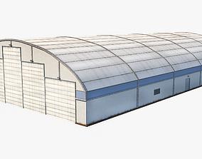 3D model low-poly Aircraft Maintenance Hangar