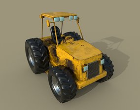 Tractor industrial 3D model game-ready