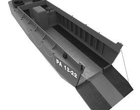 3D asset World war 2 LCVP Higgins Boat