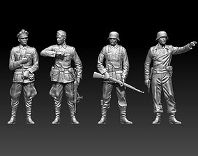 3D print model German soldiers and German officer