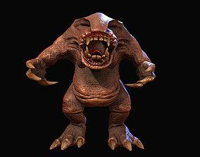 3D model of a fantastic creature karamba for animated 2