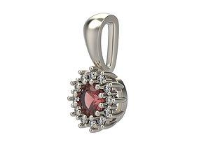 Women pendant with gems 3dm stl