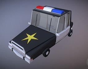 VR / AR ready 3D Cartoonish Lowpoly Police Car