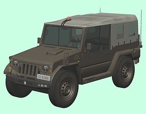 3D Japan Ground Self-Defense Force Type-73 pickup truck