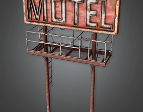 PAS - Post Apocalyptic Abandoned Sign 01 -PBR 3D asset 1