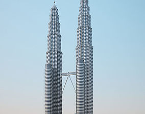 Petronas Twin Towers 3D model