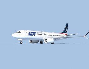 Boeing 737-800 Max Polish LOT 3D model