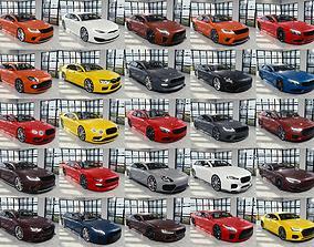 BLENDER EEVEE Brandless 50 car collection volume 3D