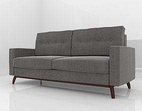Modern grey couch 3D