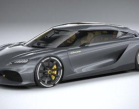 Koenigsegg Gemera 2021 LowPoly 3D model